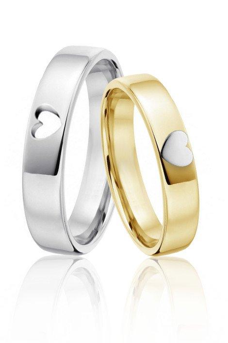Zlate Snubni Prsteny Ve Tvaru Srdicek Kvalitni Ceske Sperky A